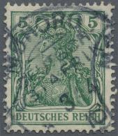 """Deutsch-Ostafrika: 1915, Germania 5 Pf Friedensdruck Mit Stempel """"MOHORO 3/4 16"""" Die Marke Stammt Aus Den Beständen"""