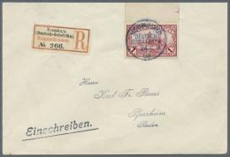Deutsch-Ostafrika: 1 R. Oberrandstück Auf Sauberem R-Brief Nach Pforzheim Mit Ankunftsstempel, Gepr. Bothe BPP.