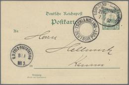 Deutsche Post In China - Stempel: TSCHIANGLING / DEUTSCHE POST, K2 Ohne Datum Neben BP-Stpl. TSINGTAU - KIAUTSCHOU (ohne