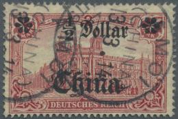 Deutsche Post In China - Stempel: 1914. 1/2 D Auf 1 M Mit Besserer Stempeltype Von AMOI 13.3.14 Vorschriftsmässig U