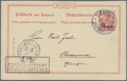 Deutsche Post In China - Ganzsachen: 1903: Seltener Soldatenbriefstempel Vom GERICHT Des Ostasiat. Infantrie-Regiments N