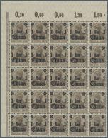 Deutsche Post In China: 1919, 1 Cent Auf 3 Pf, Stumpfer (rußiger) Aufdruck, Im Postfrischen 25er-Bogenteil Aus Der