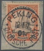 Deutsche Post In China: 1901, PETSCHILI Ausgabe, 40 Pfg Karmin/schwarz Der Kiautschou-Ausgabe Aushilfsweise In Peking Ve