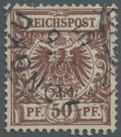 Deutsche Post In China: 1901. PETSCHILI. 50 Pfg Lebhaftrötlichbraun Mit Auf Dieser Marke Seltener Entwertung Von TO
