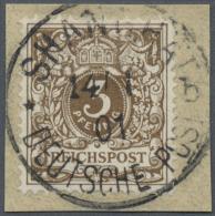 """Deutsche Post In China: 1901, Petschili Ausgabe, 3 Pfg Dunkelockerbraun Mit Besserem Stempel """"SHANGHAI DEUTSCHE POST * B"""