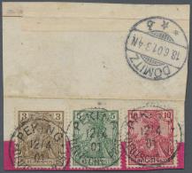 Deutsche Post In China: 1901, Petschili Ausgaben, Dekorative Dreifarbenfrankatur Auf Ausschnitt Eines Mandarinbriefes Mi