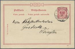 Deutsche Post In China: 1901, Petschili, GSK Mit Bedarfstext. Seltene Verwendung Einer Krone&Adler Ganzsachenkarte Z