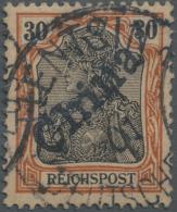 """Deutsche Post In China: 1900, 30 Pfg. Reichspost Mit Handstempel, Sauber Gestempelt """"TIENTSIN 7/1.01"""", Eine Zeitgerechte"""