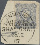 Deutsche Post In China - Vorläufer: 20 Pfg. Mittelultramarin Auf Briefstück. Sehr Selten Und Im MICHEL Ohne Pr