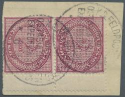 Deutsche Post In China - Vorläufer: 1901. PETSCHILI Ausgabe. 2 Mk Rötlichkarmin, Senkrechtes Paar Mit Rechtem