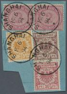 Deutsche Post In China - Vorläufer: 1894: Extrem Seltene Verwendung Der 25 Pfg Gelborange (V49 A) Mit Kleinem Stemp