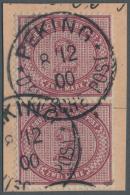Deutsche Post In China - Vorläufer: 1900. Boxeraufstand. 2 MK Dunkelrotkarmin Auf Postanweisungsausschnitt Mit Auf