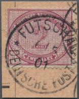 Deutsche Post In China - Vorläufer: 1901, 2 Mk. Dunkelrotkarmin Auf Postanweisungsauschnitt Mit Auf Dieser Marke Se
