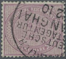 Deutsche Post In China - Vorläufer: 1889, 2 M. Lebhaftgraulila, Farbfrisch, Sauber Gestempelt, Pracht, Doppelt Sign