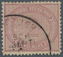 """Deutsche Post In China - Vorläufer: 1887, 2 M. Mittelrosa Im Verbreitertem Format, Gestempelt Mit Teilstempel """"KDPA"""