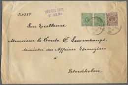 Deutsche Post In China - Vorläufer: 1892, 50 Pfg. Lebhaftrötlichkarmin Und Waagerechtes Paar 5 Pfg. Opalgr&uum
