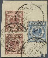 Deutsche Post In China - Vorläufer: 50 Pfg. Im Paar MIT ZWISCHENSTEG-ANSATZ (dieser Im MICHEL Nicht Gelistet) Dazu