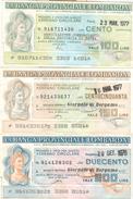 88 - N. 3 MINIASSEGNI BANCA PROVINCIALE LOMBARDA - Monete & Banconote
