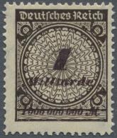 Deutsches Reich - Inflation: 1923, 1 Milliarde Mark Schwarzgraubraun Plattendruck Postfrisch, Rückseitig Winzige Fa