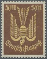 Deutsches Reich - Inflation: 1922, Farbprobedruck 5 Mk. Lebhaftbraun Mit Gelbem Netzunterdruck, Tadelloses Exemplar Dies