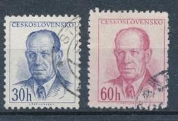 Tschechoslowakei Mi. 816 + 817 Gest. Präsident Zapotocky