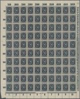 """Deutsches Reich - Inflation: 1922, 50 Mark Posthorn Auf Papier Mit Wasserzeichen """"Kreuzblüten"""", Im Postfrischen Bog"""
