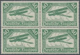 Deutsches Reich - Inflation: 1919, Flugpost 40 Pfg. Grün In Der Seltenen Blassgrünen Farbvariante, Einwandfrei