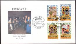 FAROE 1986 «Skrimsla Lays, Songs, Kvædir» Mi# 130-33 FDC Complete Set - Perfect Condition