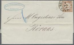 """Deutsches Reich - Brustschild: 1874, """"2 1/2 Auf 2 1/2 Groschen"""" Als Portorichtige EF Auf Kplt. Faltbrief Mit HE HAMBURG"""