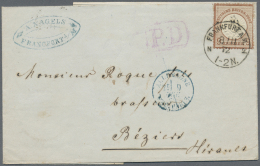 Deutsches Reich - Brustschild: 1872, 9 Kr Lilabraun, Farbfrisch Und Gut Geprägt Als Einzelfrankatur Auf Faltbrief V