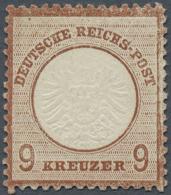 Deutsches Reich - Brustschild: 1872, 9 Kr. Großer Schild, Lilabraun. Die Ungebrauchte Marke Hat Originalgummi Mit