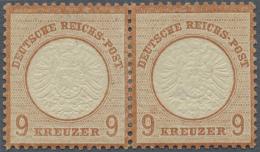 Deutsches Reich - Brustschild: 1872, 9 Kr. Rötlichbraun Als Waagerechtes, Ungebrauchtes Paar. In Der Zähnung G