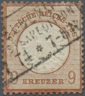 Deutsches Reich - Brustschild: 9 Kr. Großer Schild, Sauber Gestempeltes Qualitätsstück