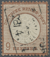 Deutsches Reich - Brustschild: 1872, 9 Kr. Großer Schild, Hell- Bis Mittelrötlichbraun, Gestempelt, Signiert