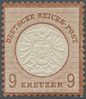 Deutsches Reich - Brustschild: 1872, 9 Kr. Großer Schild, Mittelrötlichbraun, Hervorragend Geprägt Und Z