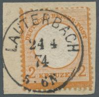 Deutsches Reich - Brustschild: 1872, 2 Kreuzer Orange Großer Schild Mit Vollständigem Und Glasklarem Preu&szl