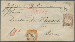 Deutsches Reich - Brustschild: 1872, Freimarken Brustschild 2½ Gr Rötlichbraun Und ½ Gr Orange, Je Gr