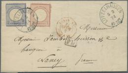 Deutsches Reich - Brustschild: 1874, 2 Gr. Blau, Markanter Plattenfehler: Heller Fleck Rechts Am Kreis, Im Handbuch Nich