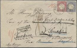 Deutsches Reich - Brustschild: 1875 EINMALIGER BRUSTSCHILD BRIEF NACH ÄGYPTEN UND WEITERGESANDT NACH SUDAN UND &Aum