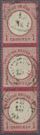 Deutsches Reich - Brustschild: 1872, 1 Gr. Großer Schild Im Senkrechten 3er-Streifen Mit Etwas Undeutlichem, D&aum