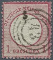 """Deutsches Reich - Brustschild: 1872, 1 Gr. Großer Schild Mit Klarem, Dänischen Dreiring-Stempel """"43"""" Von Naks"""