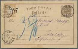 Deutsches Reich - Brustschild: 1874, Grosses Schild ½ Groschen Auf ½ Gr. ANTWORT-GANZSACHE-Karte Von Der S