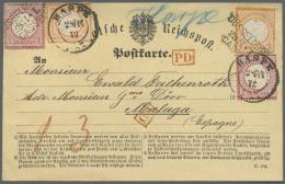 Deutsches Reich - Brustschild: 1872, Postkarten-Formular C.154 Mit Jeweils 2 Stück 1/2 Gr. Und 1 Gr. Großer S
