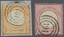 """Deutsches Reich - Brustschild: 1872, 1/2 Gr. Und 1 Gr. Großer Schild Je Mit Dänischem Duplex-Stempel """"(DPSK.P"""