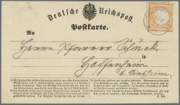 """Deutsches Reich - Brustschild: 1872, 2 Kreuzer Orange Auf Tadelloser Karte Von """"WALLDORF 23 6 73"""" Nach Hoffenheim"""