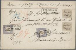 Deutsches Reich - Brustschild: 1872, Zweimal 10 Groschen Innendienst + Zweimal 2 Gr. Kleiner Schild Zusammen Auf Wertbri