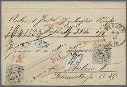 Deutsches Reich - Brustschild: 1872, 2 Stück 10 Groschen Grau Vorschriftsmäßig Handschriftlich Entwertet