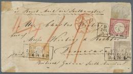 Deutsches Reich - Brustschild: 1872, 10 Gr Innendienst Vorschriftsmäßig Handschriftlich Entwertet In MiF Mit