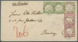 Deutsches Reich - Brustschild: 1872, 18 Kr. Kleiner Schild Ockerbraun, Senkrechtes Paar 3 Kr. Karmin Und Waagerechtes Pa