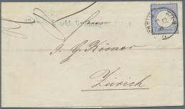 """Deutsches Reich - Brustschild: 1872, 7 Kr. Gleiner Schild Ultramarin, Farbfrisch Und Gut Gezähnt Mit EKr. """"MANNHEIM"""